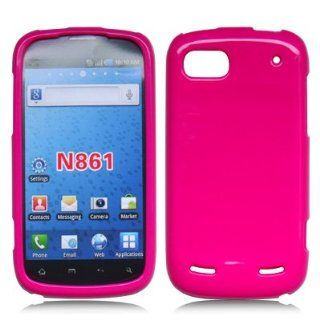 Solid Hot Pink Flexible and Soft TPU Silicon Case for ZTE Warp Sequent N861 by ThePhoneCovers Cell Phones & Accessories