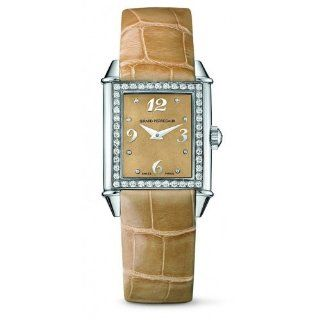 Girard Perregaux Vintage 1945 25890 D 11 A861 CK8A 23.5mm Diamonds Stainless Steel Case Brown Calfskin Anti Reflective Sapphire Women's Watch at  Women's Watch store.