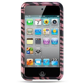 Hard Snap on Plastic With PINK BLACK ZEBRA Design Sleeve Faceplate Cover Case for APPLE IPOD TOUCH 4G [WCB1001] Cell Phones & Accessories
