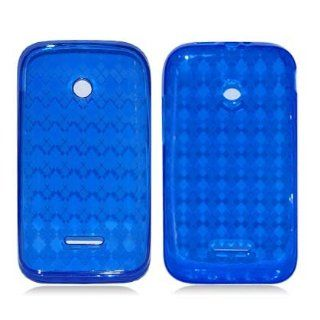 Huawei Inspira H867G/ Glory H868c BLUE PLAID TPU RUBBER CASE Cell Phones & Accessories