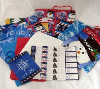 Holiday Gift Bags Tags Tissue Paper & Flat Gift Wrap Set Health & Personal Care