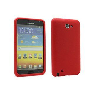 Red Soft Silicone Gel Skin Cover Case for Samsung Galaxy Note N7000 SGH I717 SGH T879 Cell Phones & Accessories