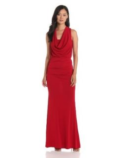 Nicole Miller Women's Stretchy Matte Jersey Dress, Red, 8