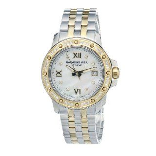 "Raymond Weil Women's 5399 SPS 00995 ""Tango"" Stainless Steel Two Tone Dress Watch with Diamonds at  Women's Watch store."