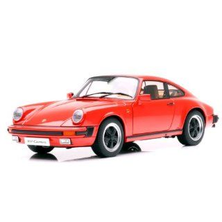 PORSCHE 911 CARRERA 1988 RED Diecast Model Car in 118 Scale by AUTOart Toys & Games