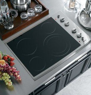 "GE PP912SMSS Profile 30"" Stainless Steel Electric Smoothtop Cooktop Appliances"