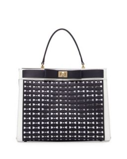 mayfair drive perforated tullie satchel bag, true navy   kate spade new york