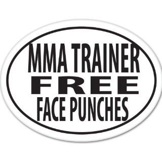 UFC MMA TRAINER FREE FACE PUNCHES OVAL Training Gym Motivation Car Sticker Decal Phone Small 3""