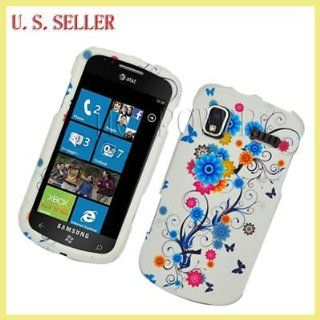 For Samsung Focus i917 Hard Case Flower Butterfly
