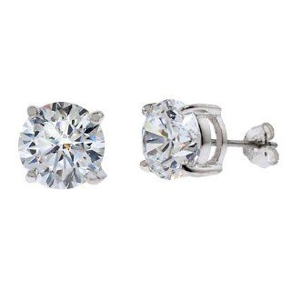 1Ct Tw Cubic Zirconia Diamond Basket Setting (.925) Sterling Silver Stud Earrings (Nice Gift, Special Sale) Jewels Lovers Jewelry