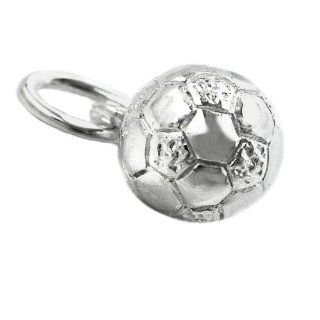 Pendant 6 mm football shiny silver 925 DE NO Computers & Accessories