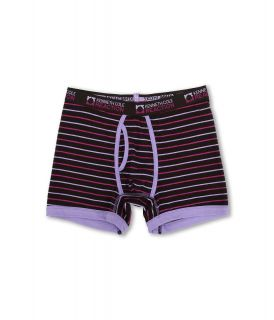 Kenneth Cole Reaction Fashion Stripe Cotton Stretch Boxer Brief Mens Underwear (Purple)