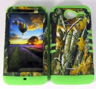 Motorola Electrify M XT901 Hard Lime Green Skin+Camo Branch Snap Case Cover New Cell Phones & Accessories