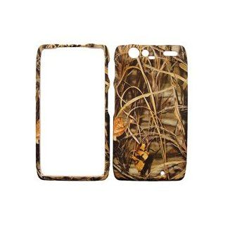 MOTOROLA DROID RAZR DRY LEAVES CAMO CAMOUFLAGE HUNTER HARD PROTECTOR SNAP ON COVER CASE Cell Phones & Accessories