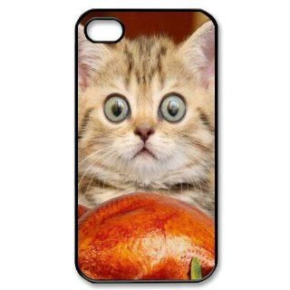 Custom Because Cats Cover Case for iPhone 4 4s LS4 929 Cell Phones & Accessories