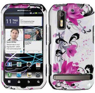 Purple Lily Hard Case Cover for Motorola Electrify Cell Phones & Accessories