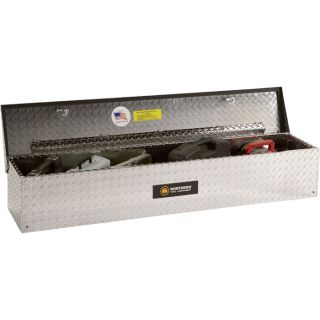 Aluminum Flush-Mount Side-Bin Truck Box — Diamond Plate, 70 1/2in.L x 12 1/2in.W x 10 1/2in.H  Side Mount Boxes