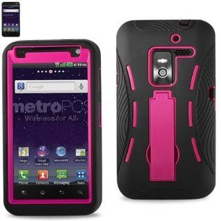 Reiko SLCPC06 LGMS910BKHPK Premium Durable Silicone Protective Combo Case for LG Esteem (MS910)   1 Pack   Retail Packaging   Hot Pink Cell Phones & Accessories