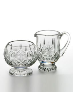 Lismore Footed Cream & Sugar   Waterford Crystal