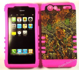 "2 in 1 Hybrid Case Protector for for Verizon Motorola Droid Razr XT912 Phone Hard Cover Faceplate Skin ""Pink Silicone + Camo Mossy Hunter"" Cell Phones & Accessories"