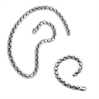 Previously Owned   Mens Stainless Steel Heavy Link Necklace and