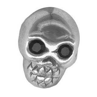 14 gauge Cartilage Earring .925 Sterling Silver Skull BioFlex Labret Stud Push In Style Tragus Jewelry Lip Ring Valentines Day Gift For Him or Her Jewelry