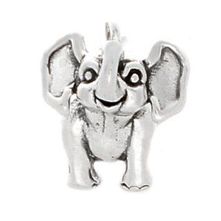 925 Sterling Silver Cute Baby Elephant Charm Pendant Jewelry