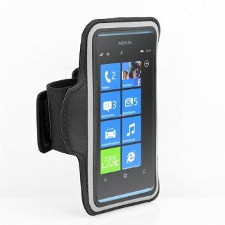 SQdeal� Premium Sports Running Gym Armband Case Cover for Nokia Lumia 900 / 920 / 925 / 928 (Black)  Sports & Outdoors