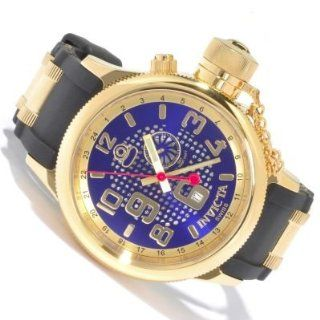 Invicta Men's Russian Diver Quinotaur Swiss Quartz GMT Rubber Strap Watch Watches