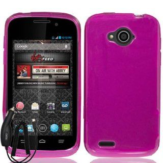 ZTE REEF N810 PINK TPU RUBBER SKIN COVER SOFT GEL CASE + FREE CAR CHARGER from [ACCESSORY ARENA] Cell Phones & Accessories