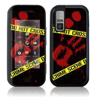 Crime Scene Design Protective Skin Decal Sticker for Samsung Glyde SCH U940 Cell Phone Cell Phones & Accessories