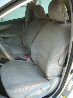 Exact Seat Covers, T985 V4, 2009 2010 Toyota Corolla Front Bucket Seats Custom Exact Fit Seat Covers, Taupe Velour Automotive