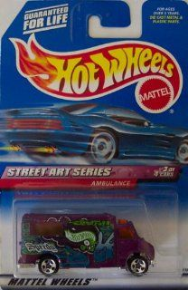 Mattel Hot Wheels, Street Art Series Ambulance #951, 5 Spoke Wheels, #3 of 4 Toys & Games
