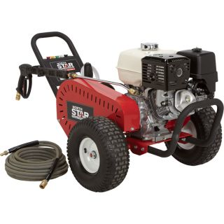 NorthStar Super High Flow Gas Cold Water Pressure Washer — 5.0 GPM, 3000 PSI, Belt Drive, Model# 1572042  Gas Cold Water Pressure Washers