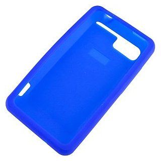Silicone Skin Cover for HTC Vivid, Blue Cell Phones & Accessories