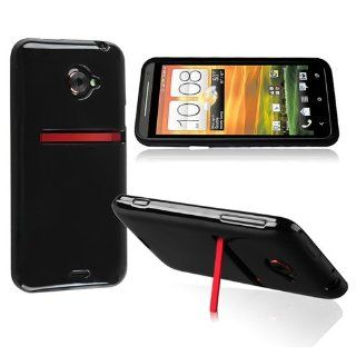 eForCity TPU Rubber Skin Case compatible with HTC EVO 4G LTE, Black Jelly Cell Phones & Accessories