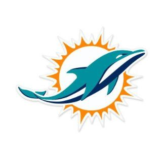 "Miami Dolphins NFL Large Sticker (12"" x 10"") Cornhole Wall Car  Sports Fan Bumper Stickers  Sports & Outdoors"