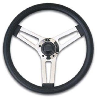 Grant GRT990 Grant Classic Series Wheel 14.5 Inch Black Grip Stainless Steel Spoke Automotive