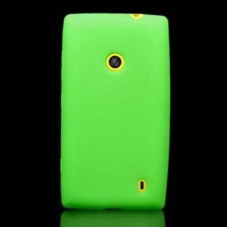 CoverON� Soft Silicone NEON GREEN Skin Cover Case for NOKIA LUMIA 521 [WCL991] Cell Phones & Accessories