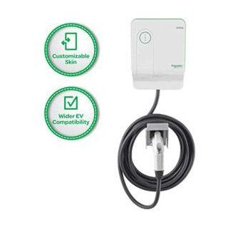 Square D by Schneider Electric EV230WS EVlink 30 Amp Generation 2.5 Enhanced Model Indoor Electric Vehicle Charging Station