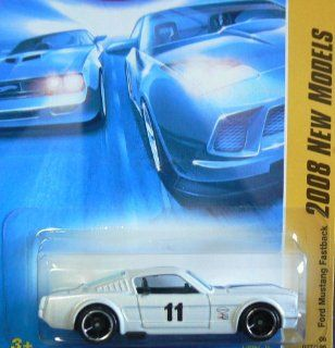 Hot Wheels 2008 027 New Models # 27 Ford Mustang Fastback White 164 Scale Toys & Games
