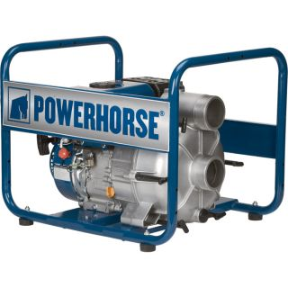 Powerhorse Full Trash Water Pump — 3in. Ports, 11,820 GPH, 1 1/8in. Solids Capacity, 208cc Powerhorse Engine  Engine Driven Full Trash Pumps