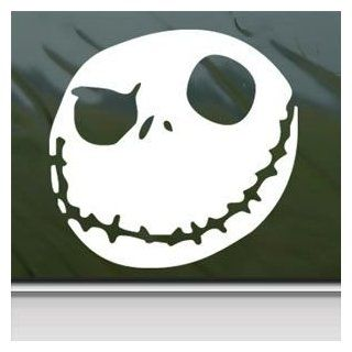Nightmare Before Christmas White Sticker Decal Jack Skellington White Car Window Wall Macbook Notebook Laptop Sticker Decal Automotive
