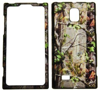 IMAGITOUCH(TM) 2 Item Combo For LG Spectrum 2 VS930 (Verizon) Rubberized Snap On Hard Shell Design Faceplate Case Cover Protector   Real Trees Camo Camouflage Hunting Green Leaves(Pry Tool, Phone Cover) Cell Phones & Accessories