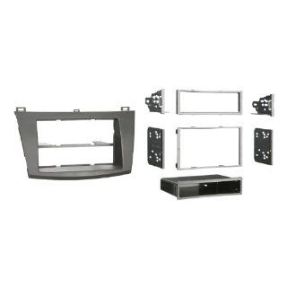 Metra 99 7514B Single or Double DIN Installation Dash Kit for 2010 Mazda 3, Painted Matte Black to Match Dash (Black)  Vehicle Receiver Universal Mounting Kits