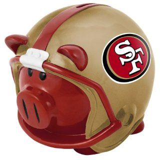NFL San Francisco 49ers Resin Large Helmet Piggy Bank Sports & Outdoors