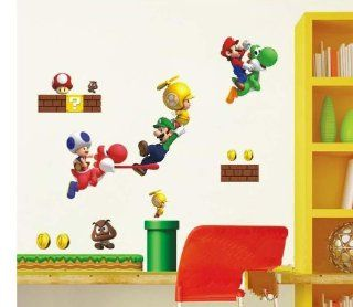 Ihome Super Mario Korean Kids Room Bedroom Decor Removable Wall Stickers Wall Stickers Cartoon Wallpaper  Nursery Wall Decor  Baby