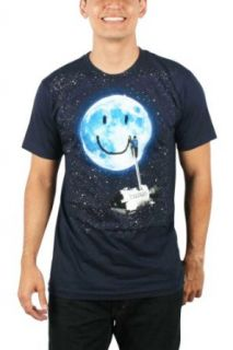 Imaginary Foundation   Mens Moon Tag T Shirt in Navy, Size X Large, Color Navy Clothing