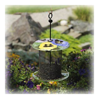 Bird Brain NinArt Glass & Mesh Bird Feeder Geranium (Discontinued by Manufacturer) Patio, Lawn & Garden
