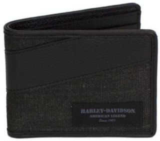 Harley Davidson Mens Grey/Black Canvas C4 Billfold Wallet CC8187S GRYBLK at  Men�s Clothing store